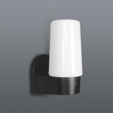 Flame Wall Mount-BLK/Opal E27/230V-150MM