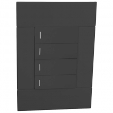 VETi 2 Four Lever Switch Charcoal