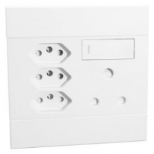 VETi 2 SWITCHED SOCKET 1XSSO+3 EURO WHITE