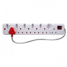 12 Way Multiplug (6x16A/6x5A-1x Schuko + Surg