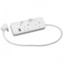 4 WAY MULTIPLUG (2X16A + 2X5A) WITH USB