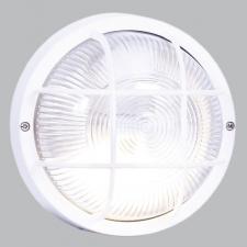 zzzROUND GRID  PVC BULKHEAD - WHITE IP44 ES