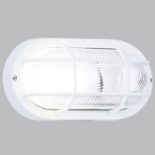 OVAL GRID PVC BULKHEAD - WHITE IP44 ES