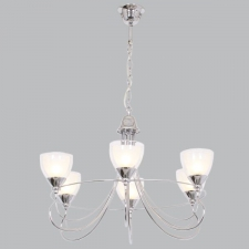 CH192/6 Polished Chrome Chandelier