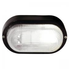 zzzOVAL PLAIN PVC BULKHEAD - BLACK IP54 ES