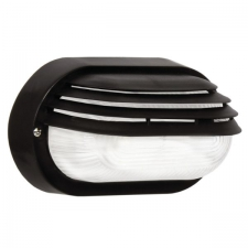 OVAL EYELID PVC BULKHEAD CLEAR GLASS BLACK IP54 ES