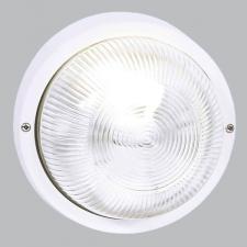 ROUND PLAIN  PVC BULKHEAD - WHITE IP54 ES