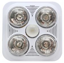 Bathroom Heater White 4x275/1x60w