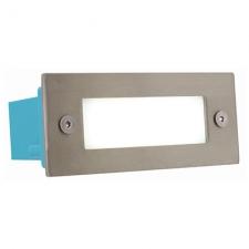 RECTANGLE S.STEEL LED FOOTLIGHT PLAIN IN