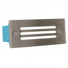 RECTANGLE S.STEEL LED FOOTLIGHT WITH GRI