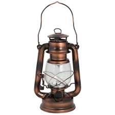 LED Large Lantern 155mm Painted Brass