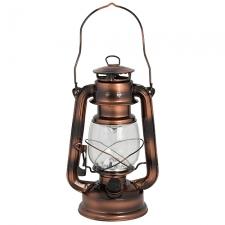LED Large Lantern 155mm Painted Brass