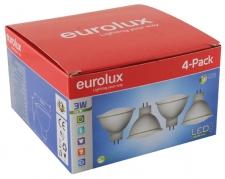 LED MR16 GU5.3 3w CW 4Pc Pack