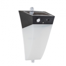 Solar Wall Light 130mm Black
