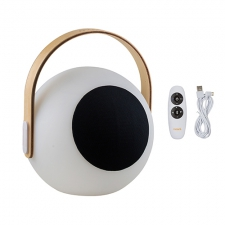 EYE SPEAKER LANTERN WOODEN HANDLE