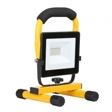 LED 10w Floodlight with H.Stand, Yellow Black