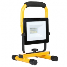 LED 20w Floodlight with H.Stand, Yellow & Black
