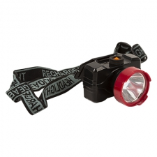 Rechargeable Head Lamp 1w Black/Red