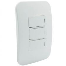 VETi 1 Three Lever One-Way Switch White