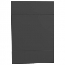 VETi 2 50 x 100mm Blank Cover Plate Charcoal