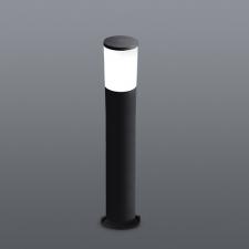AMELIA 800 BOLLARD - OPAL - BLACK - 8W E27 LED/400