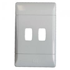 CBi GRID PLATE 2LVR 2X4 WHITE