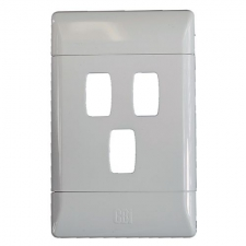 CBi GRID PLATE 3LVR 2X4 WHITE