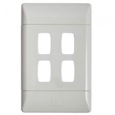 CBi GRID PLATE 4LVR 2X4 WHITE