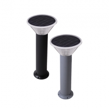 Solar Bollard Light Black